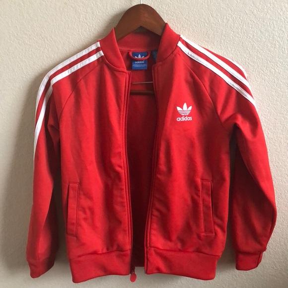 red adidas jacket kids off 65% -